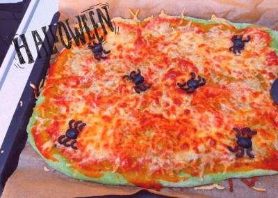 Halloweenpizza i BørneBiksen